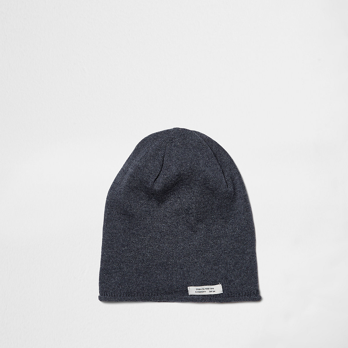 Boys blue washed slouch beanie hat - Accessories - Sale - boys bf6aba772e46