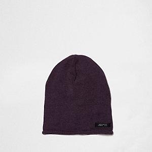 Bonnet souple violet délavé pour garçon