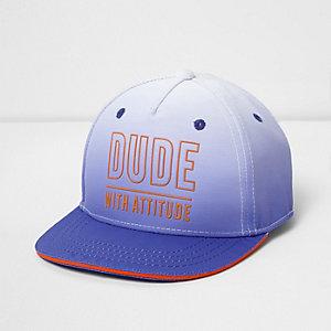 Casquette «dude with attitude» bleue en dégradé mini garçon
