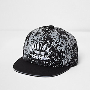 Mini boys black camo 'original' flat peak cap