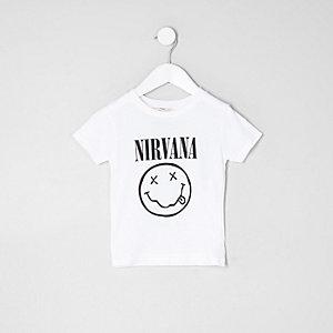 Mini boys white Nirvana band T-shirt