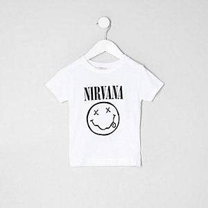 "Weißes ""Nirvana""-T-Shirt"