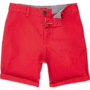 Short chino rouge pour garçon