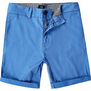 Blauwe chinoshort voor jongens