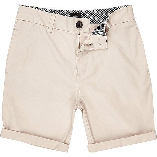 Boys stone chino shorts