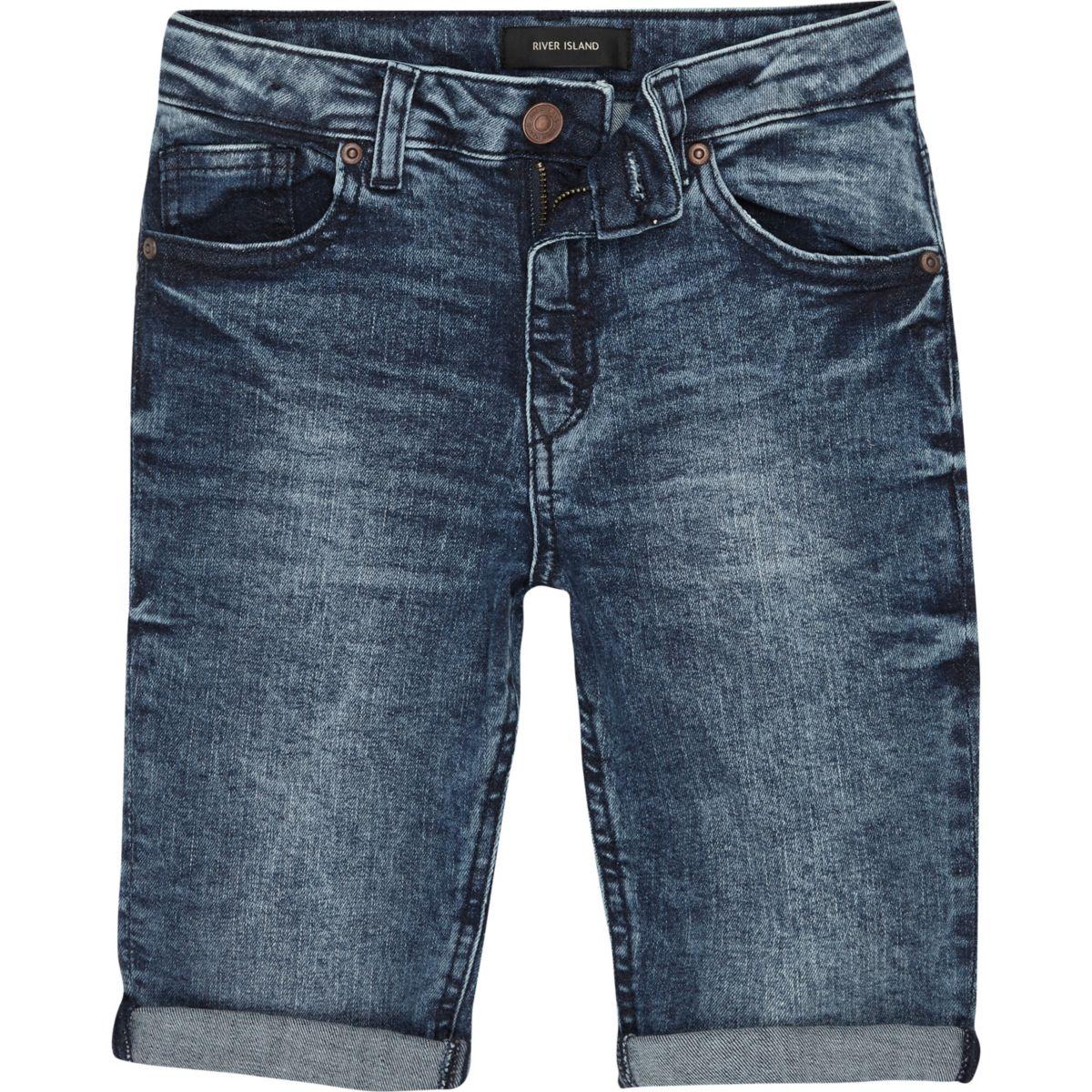 Boys blue eagle Dylan slim fit denim shorts