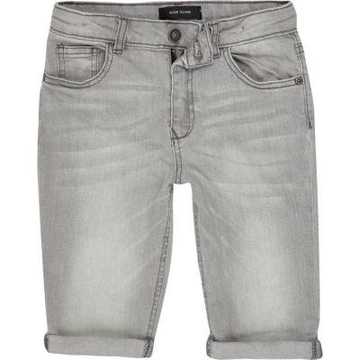 Dylan Lichtgrijze slim-fit jeans voor jongens
