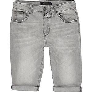 Dylan – Short en jean slim gris clair pour garçon