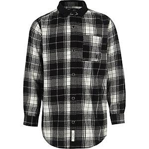 Zwart geruit overhemd met lange mouwen voor jongens