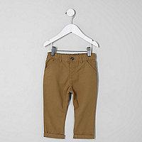 Mini boys tan chino trousers