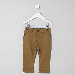 Mini boys tan chino pants