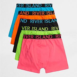 Multipack roze boxershorts met felle kleuren voor jongens