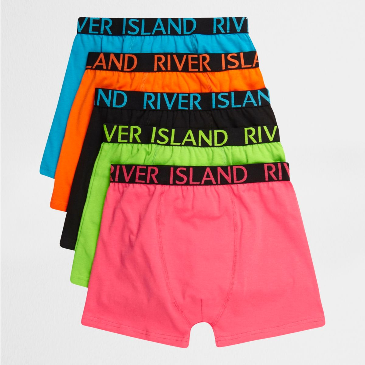 Boys pink bright color boxers multipack