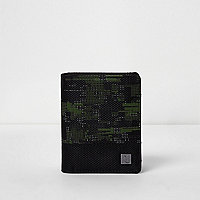 Boys black camo wallet