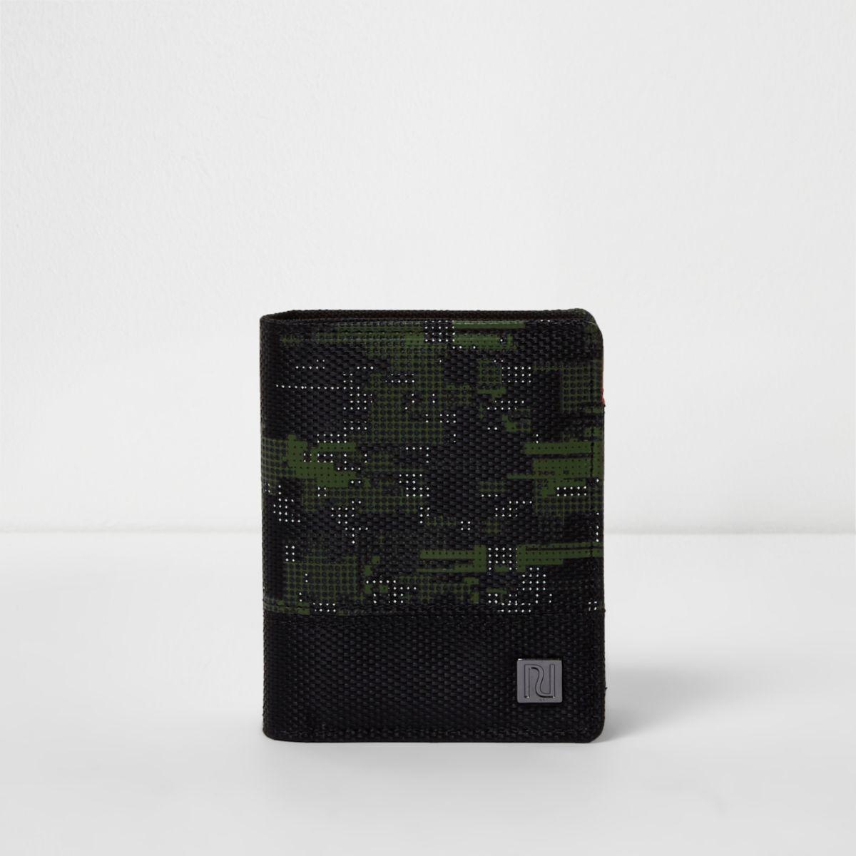 Boys black camo wallet
