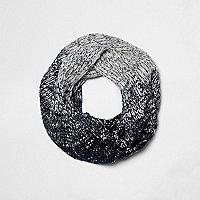 Boys navy ombre rib knit snood