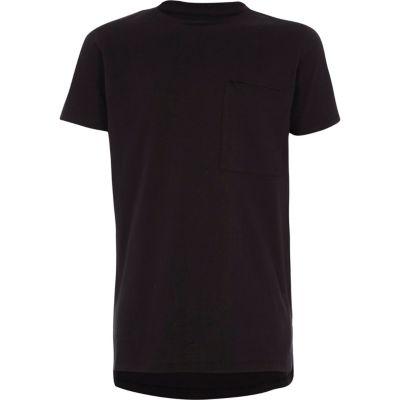 Zwart T-shirt met korte mouwen en ronde hals voor jongens