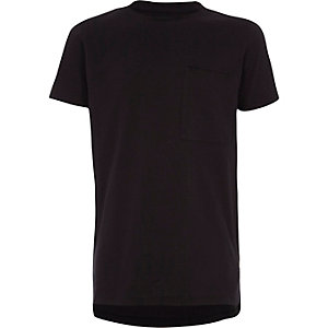 Boys black short sleeve crew neck T-shirt