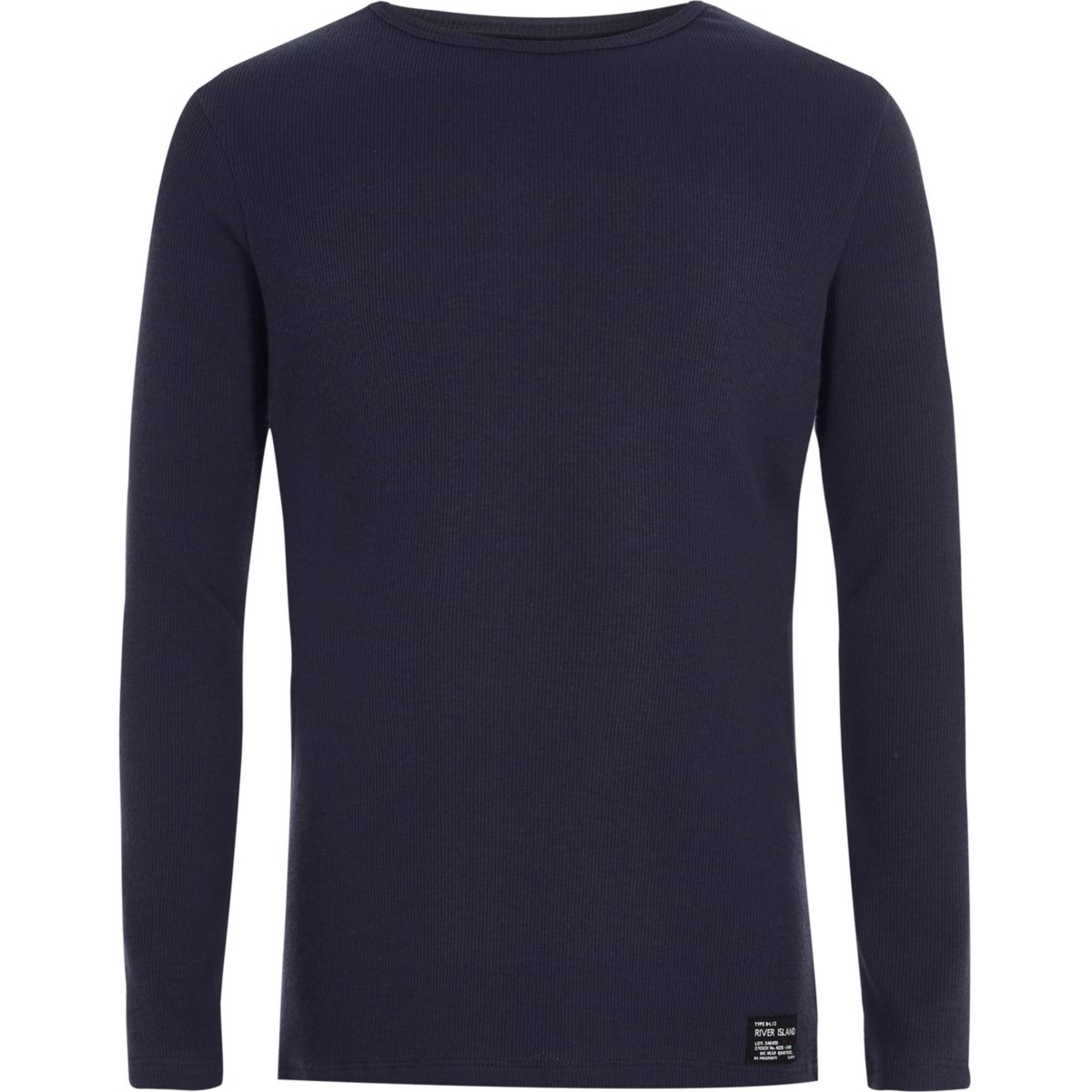 boys navy ribbed long sleeve t shirt long sleeve t