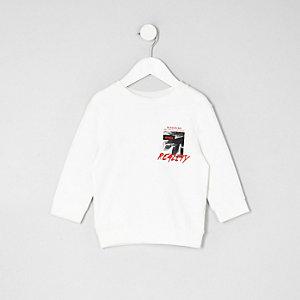 Mini - Crème sweatshirt met 'reality'-print voor jongens