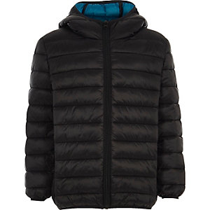 Boys black puffer coat