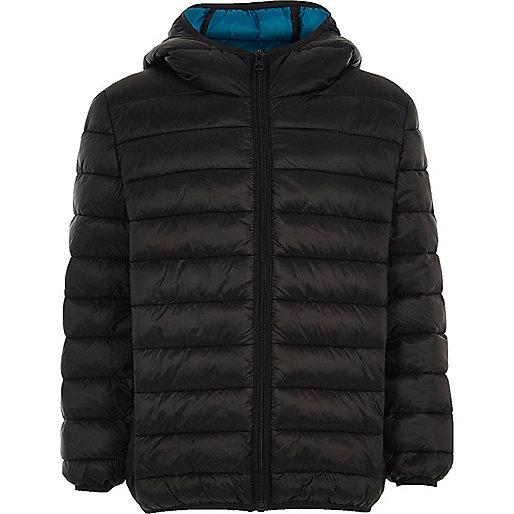 Boys black puffer coat
