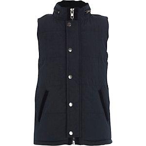 Boys navy puffer vest