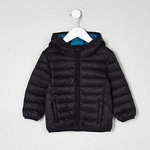 Mini boys black lightweight puffer jacket