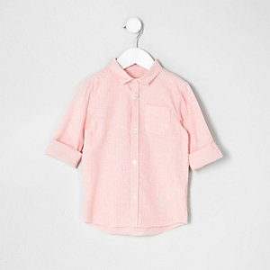 Chemise rayée orange mini garçon