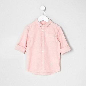 Mini - Oranje gestreept overhemd voor jongens