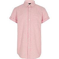 Boys orange stripe short sleeve shirt
