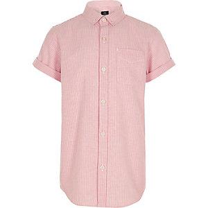Chemise orange à rayures et manches courtes pour garçon
