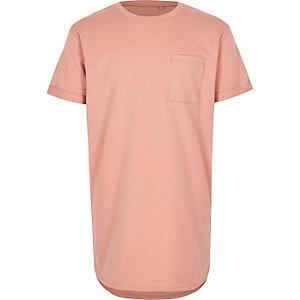 Roze T-shirt met ronde zoom voor jongens