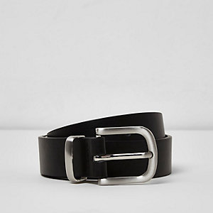 Boys black smart belt