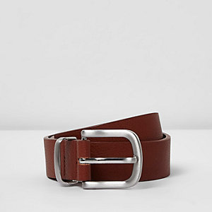 Boys tan smart belt