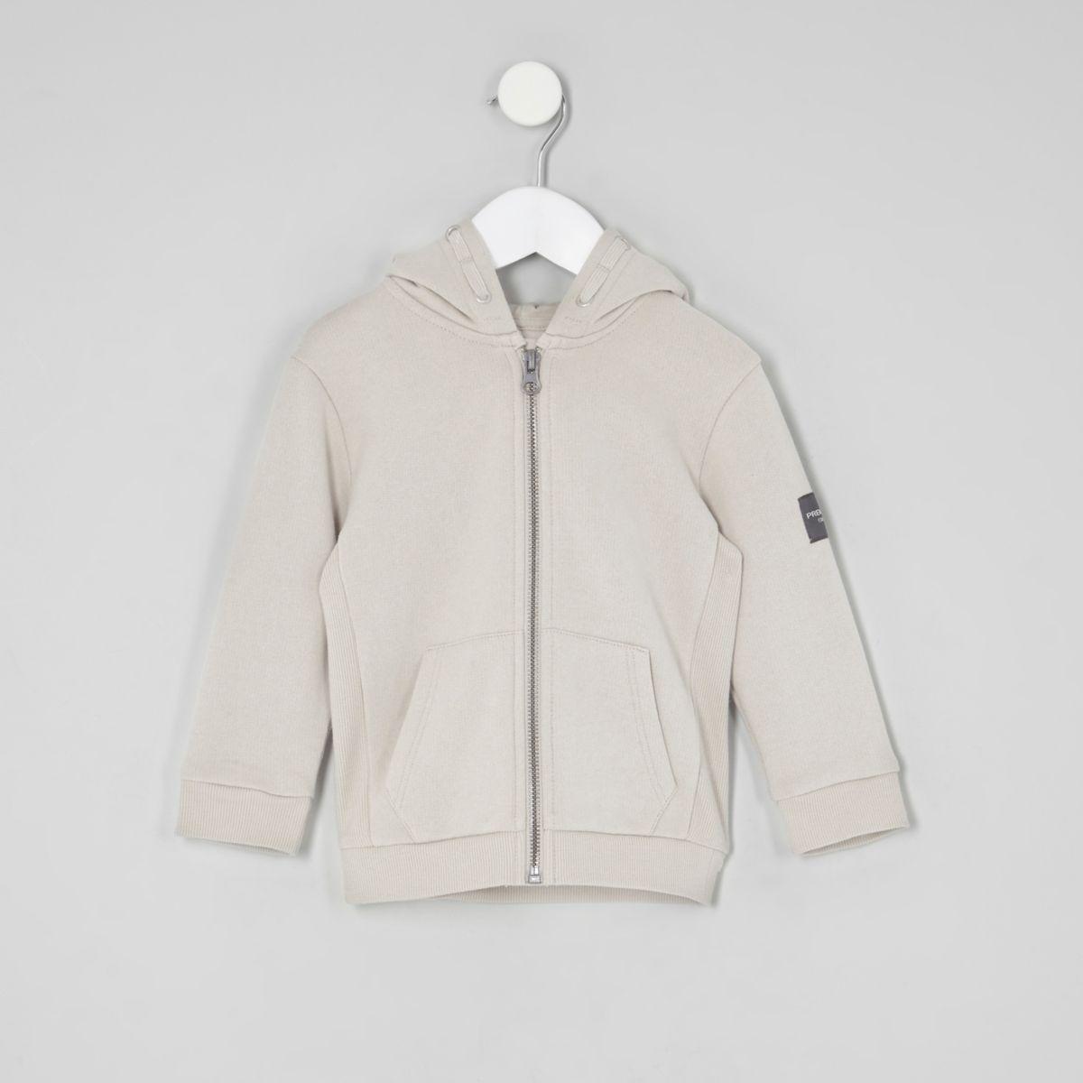 Mini boys stone zip up hoodie