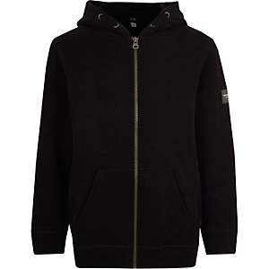 Zwarte hoodie met rits en lange mouwen voor jongens