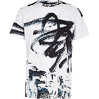 Weißes Oversized-T-Shirt