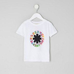 T-shirt Red Hot Chili Peppers blanc pour mini garçon