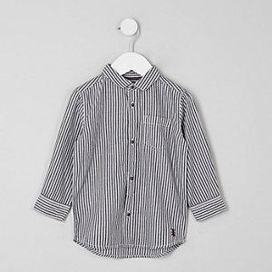 Dunkelgraues Hemd mit Streifen