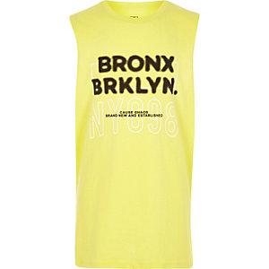Débardeur imprimé «Bronx» vert citron pour garçon
