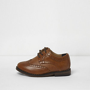 Mini boys tan brogues