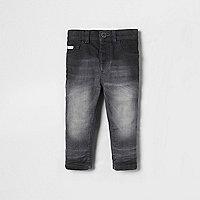 Mini boys grey Sid skinny jeans