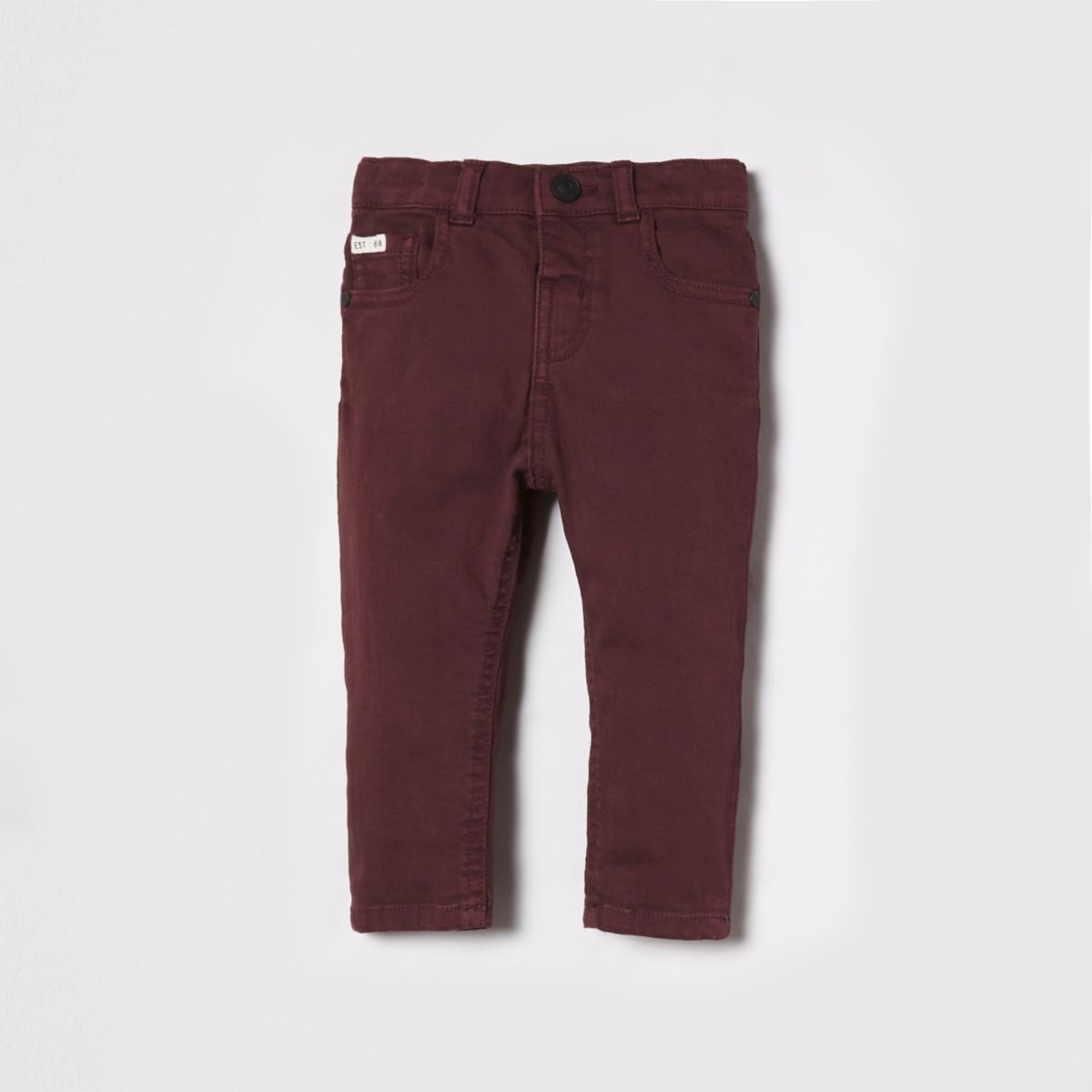 Mini boys burgundy Sid skinny jeans