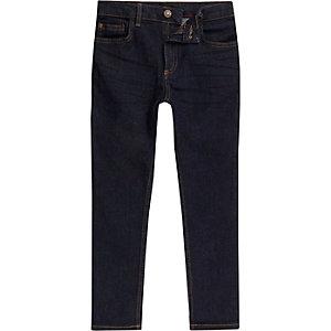 Sid skinny jeans met donkerblauwe wassing voor jongens
