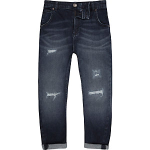 Boys blue Tony distressed jeans