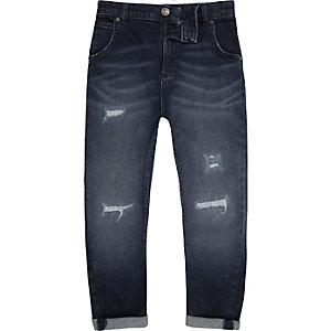 Tony - Blauwe distressed jeans voor jongens