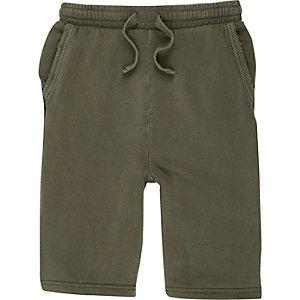 Kakigroene jersey short voor jongens