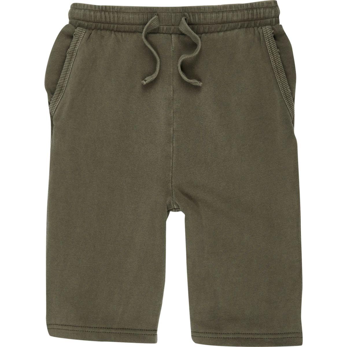 Boys khaki green jersey shorts