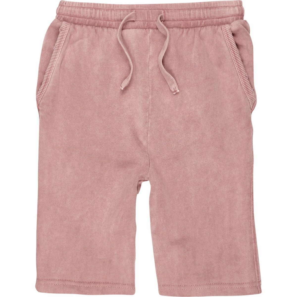 Boys pink washed jersey shorts